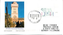 "BRD Schmuck-FDC: ""500 Jahre Universität Halle-Wittenberg"", Mi.2254 ESSt 2.5.2002 BERLIN ZENTRUM - [7] République Fédérale"