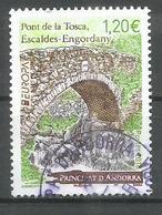 Pont De La Tosca, Escaldes. EUROPA 2018 Un Timbre Oblitéré 1 ère Qualité - Used Stamps
