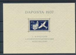 GDANSK / DANZIG - 6.6.1937 ,  Block DAPOSTA - Dantzig