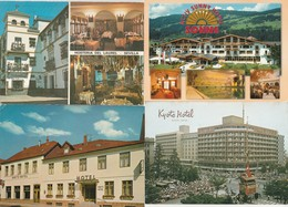 12 Cartes---hotels-restaurants-- Pays Etrangers - Postkaarten