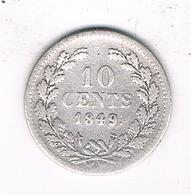 10 CENT 1849 NEDERLAND /2764/ - [ 3] 1815-… : Kingdom Of The Netherlands