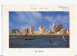 CARTOLINA ISRAELE -TEL AVIV - SKYLINE - MILLENNIUM 2000 - Israele