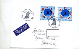 Lettre Cachet Nantes Train Mozart - Postmark Collection (Covers)