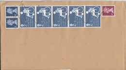 ENGLAND - 8 Fach Frankierung Auf Brief, Gel., Marken Händisch Entwertet - Briefe U. Dokumente