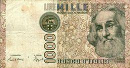 Billet De Banque Italien Italie 1000 Lire AF 431838 H Marco Polo Année 1982 B.Etat - 1000 Liras