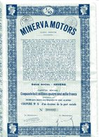 MINERVA MOTORS; 1/10 Part Sociale - Automobile