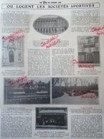 1905 LES SOCIÉTÉS SPORTIVES -  STADE FRANÇAIS - RACING CLUB DE FRANCE.- L'AUTOMOBILE CLUB - TOURING CLUB DE FRANCE ETC.. - Journaux - Quotidiens