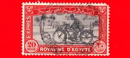 EGITTO - Usato - 1929 - Poste E Filatelia - Postino - Motorcycle Postman - Espesso - 20 - Vedi... - Egitto