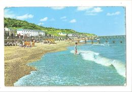 RP HOLLAND ON SEA BEACH HUTS ETC USED 1970 WITH STAMP - England