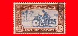 EGITTO - Usato - 1944 - Poste E Filatelia - Postino - Motorcycle Postman - Espresso - 40 - Egitto