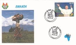 FDC RWANDA 1439,popes (f) - Rwanda