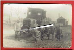 GUERRE 1914 1918 WWI VEHICULE MILITAIRE FIAT CARTE PHOTO EN BON ETAT - Guerre, Militaire