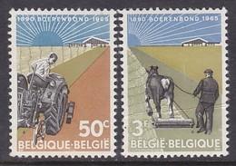 """PAIRE NEUVE DE BELGIQUE - 25E ANNIVERSAIRE DE LA FEDERATION PAYSANNE """"BOERENBOND"""" N° Y&T 1340/1341 - Agriculture"""