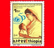 ETIOPIA - Usato - 1996 - 50° Anniversario Dell'UNICEF - 1 - Etiopia