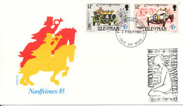 Isle Of Man Philatelic Cover Nordfrimex 85 With Old Cars On The Stamps - Man (Ile De)