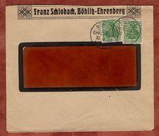 Vordruckbrief Schlohbach, MeF Germania, KOS Boehlitz-Ehrenberg 1920 (71420) - Cartas