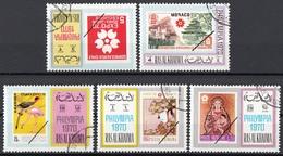 Ras Al Khaima 1970 Philympia Full Set CTO Cile Monaco Singapore Romania Vaticano Francobolli Su Francobolli - Ra's Al-Chaima
