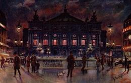 CPA Les Fééries Noctures De Paris : L'Opéra - Parijs Bij Nacht