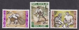 SERIE NEUVE DE BELGIQUE - CAMPAGNE MONDIALE CONTRE LA FAIM N° Y&T 1243 A 1245 - Against Starve