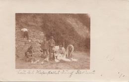 BUBEN Mit Enten, Fotokarte Im 1.Weltkrieg, Im Garten Cobenzlgasse 87 - Szenen & Landschaften