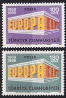 TÜRKEI TURKEY [1969] MiNr 2124-25 ( **/mnh ) CEPT - Unused Stamps