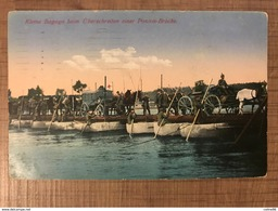Kleine Bagage Beim U Berschreiten Einer Ponton Brucke - War 1914-18