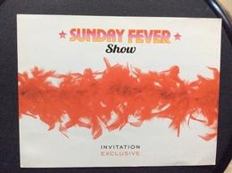 PROGRAMME CASINO  INVITATION  Sunday Fever Show - Programma's