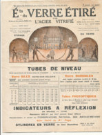 FA 1134 / FACTURE    PUB TARIF  ETS DU VERRE ETIRE  ET DE L'ACIER VITRIFIE  PARIS 19° - France