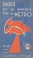 PLAN DE METRO PARIS - CIE DU CHEMIN DE FER METROPOLITAIN DE PARIS - Autres