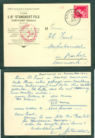 Belgium. Card 1940. German Censor. Oostkamp. Scott # 299. King 1F. Adr: Denmark - WW II