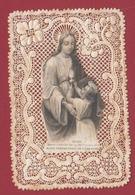 9AL693 CANIVET IMAGE PIEUSE ANCIENNE Dentelles HOLY CARDS MARIE PROTECTRICE - Devotion Images