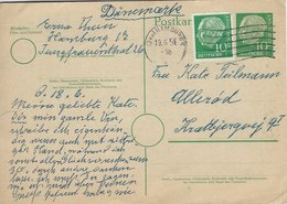 Germany . Uprated Stationery.  Sent  To Denmark 1956  H-1599 - [7] Federal Republic