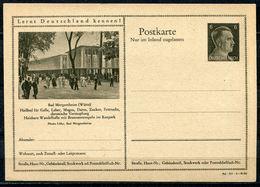 """German Empires 1942 Kopfbild A.Hitler GS Mi.Nr.P307/42-34-1-B26""""Lernt Deutschland Kennen!-Bad Mergentheim,Wandelh."""" 1 GS - Enteros Postales"""