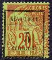 GUADELOUPE Rare N°3c* - Défaut De Calage Du Chiffre 3 - Cote Maury 335 €  . TTB (scanne Bloc De 6 Pour Information) - Guadalupe (1884-1947)