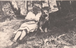 FRAU Mit Hund, Fotokarte Um 1930 - Fotografie