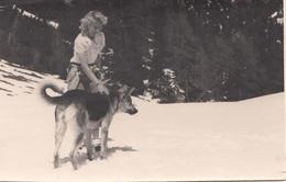 FRAU Mit Schäferhund, Fotokarte Um 1930 - Fotografie