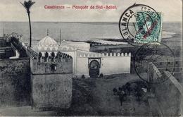 1908 , MARRUECOS ESPAÑOL , TARJETA POSTAL CIRCULADA , CASABLANCA - EPERNAY , TRANSITO DE TÁNGER - Marocco Spagnolo