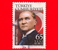 TURCHIA - Usato -  2008 - M.Kemal Ataturk, Statista - 65 - Usati