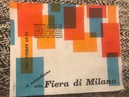 12 27 Aprile 1961 Fiera Di Milano Biglietto D'ingresso Fraber Mobili E Casalinghi - Biglietti D'ingresso