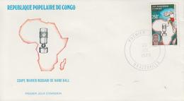 Enveloppe  FDC  1er  Jour   CONGO    Coupe  MARIEN  NGOUABI  De  Handball    1979 - Pallamano