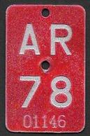 Velonummer Appenzell Ausserrhoden AR 78 - Plaques D'immatriculation