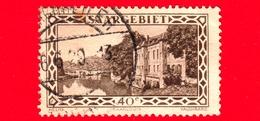 SARRE - SAARLAND - 1927 - Caserma Di Vauban A Saarlouis - Saargebiet - 40 - 1920-35 Società Delle Nazioni