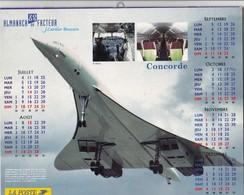 """Calendrier Du Facteur 2005 Thème Aviation Fly CONCORDE """"Le Bel Oiseau"""" Complet Cartes Et Plans Du Tarn (81)  (2 Scans) - Calendars"""