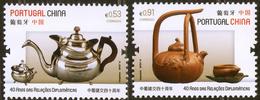 2019 2v Portugal Joint Issue Portugal - China . Vintage Teapots. Tea Culture MNH ** - 1910-... Republik
