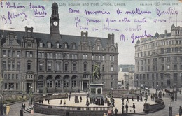 LEEDS - City Square And Post Office, Gel.1905 - Leeds
