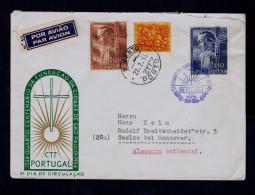 Portugal Pe.MANUEL DA NOBREGA Brazil S.PAULO City Foundateur Religion 1954/57 Cover CURIOSITÉ Fdc+date Pmk Gc2594 - Variétés Et Curiosités