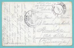 K. UND K. MILIT. POST MOSTAR 1 1916 ON CARD KAISER FRANZ JOSEG I - Briefe U. Dokumente