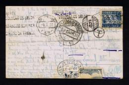 PORTUGAL 1937 Old Postcard FARO  Port Dû (Taxe) T Multa + Additional Gc481 - Port Dû (Taxe)