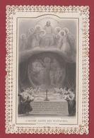 9AL711 CANIVET IMAGE PIEUSE ANCIENNE Dentelles HOLY CARDS Oeuvre Sainte Vestiaire - Santini