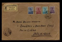 """Cap Vert Cabo Verde PRAIA Cover 1937 Portugal Ceres BEN-ANIN (HUY) + Cinderelas/vignettes """"Inválidos Do Comércio"""" Gc3212 - Cap Vert"""